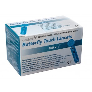 Genteel Butterfly Touch Lancet Box